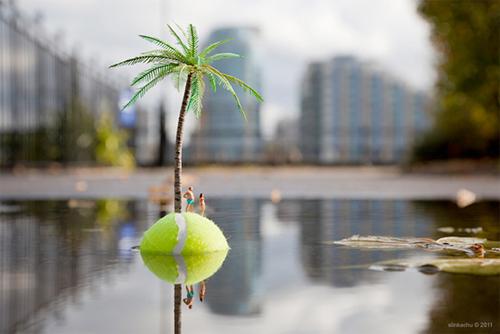 Tennis-ball-island