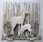 accurate wildlife papercut compositions 3